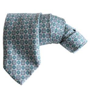 Lanvin Paris Mens Neck Tie Silk Geometric Abstract
